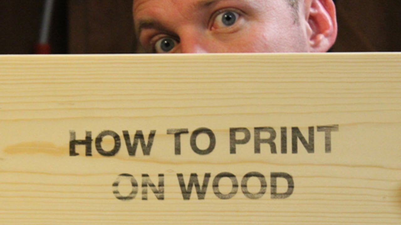 how to print on wood with an inkjet printer youtube