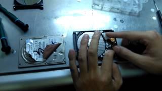 2.5 Inch SATA Hard Drive Head Swap Case Study