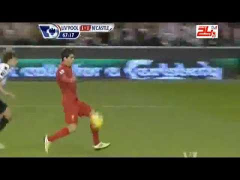 Luis Suarez -- Liverpool vs Newcastle