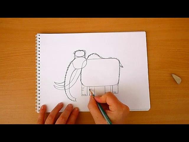 3 клас. Мистецтво. Малюємо наскельний малюнок мамонта