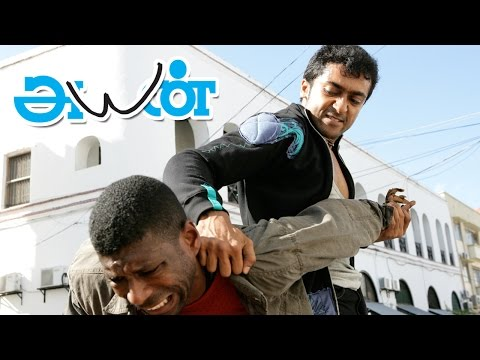 Ayan Tamil Movie scenes | Surya & Jagan goes to Africa to smuggle Diamonds | Surya Mass Fight scene