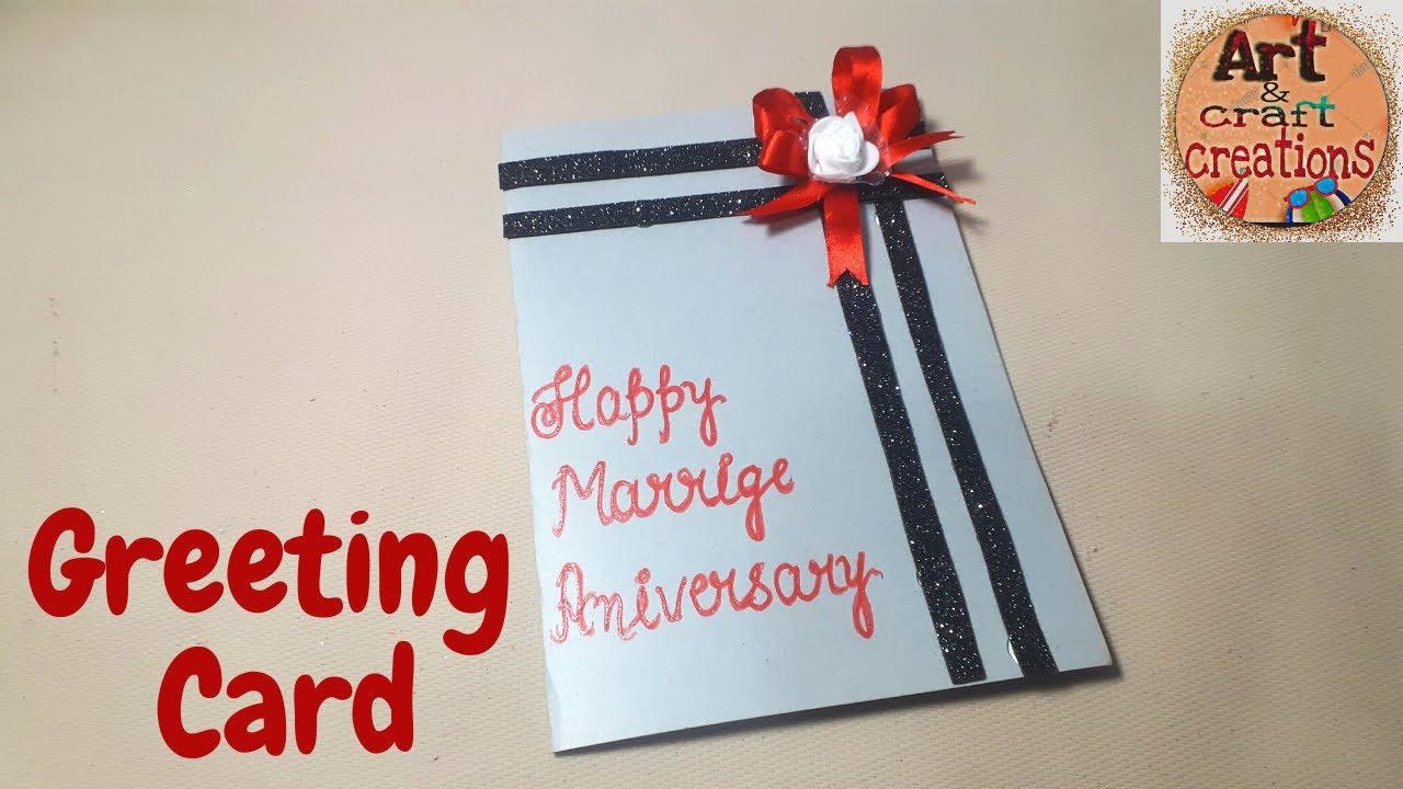 how to make anniversary card handmade easy card tutorial