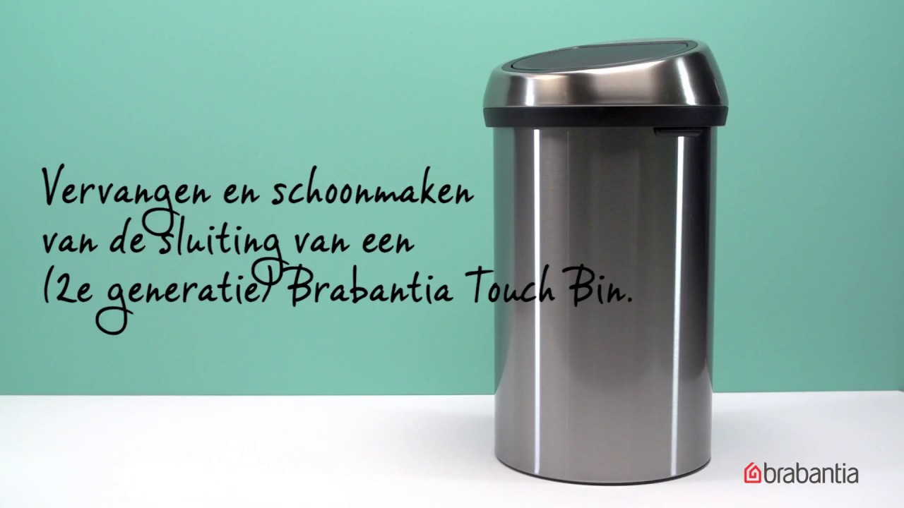 Touch Bin Sluiting.Hoe Vervang Je Het Slotje Van Een Brabantia Touch Bin