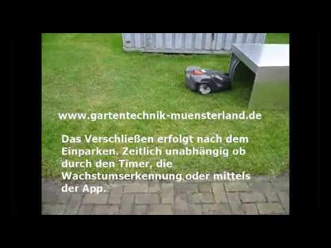 automower garage 310 315 320 330x 420 430x 450x - YouTube
