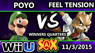 S@X 122 - Poyo (Luigi) Vs. Feel Tension (Fox) SSB4 Winners Quarters - Smash Wii U - Smash 4