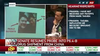 WATCH: Paolo Duterte reacts to Trillanes' Senate presentation