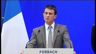 A Forbach, Valls parle sécurité et fait un pied de nez au FN - 08/10