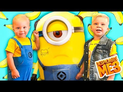 MEETING MINIONS IN REAL LIFE! 🍌 Despicable Me 3 Character Breakfast Surprise Party!
