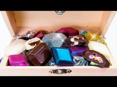 Edible Chocolate Jewels & Gems Truffles Covered in Edible Glitter