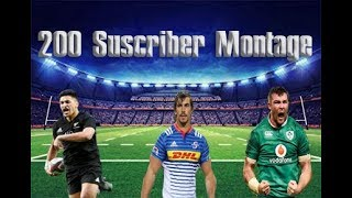 Rugby Union -  The Best Sport|| 200 Suscriber Montage