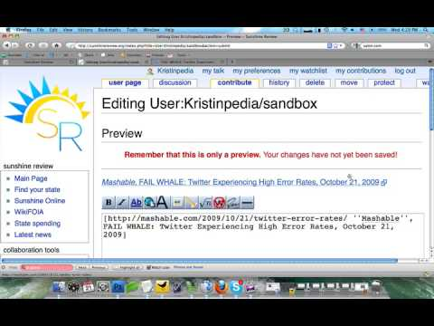 Creating External Links And References On A Wiki