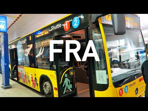 Frankfurt Airport Shuttle, Terminal 2 to 1, and the Bus Station