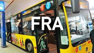 Frankfurt Airport Shuttle, Terminal 2 to 1, and the Train Station