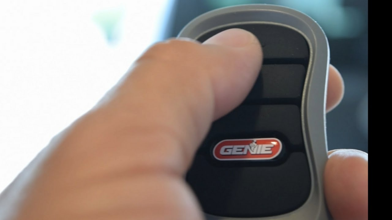 Genie 3 Button Remote Programming Replaces Old Style Remotes - YouTube