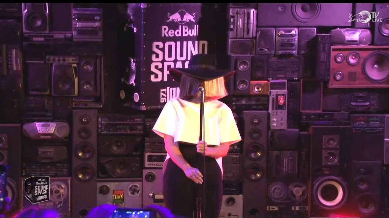 Sia chandelier live in the red bull sound space youtube aloadofball Image collections