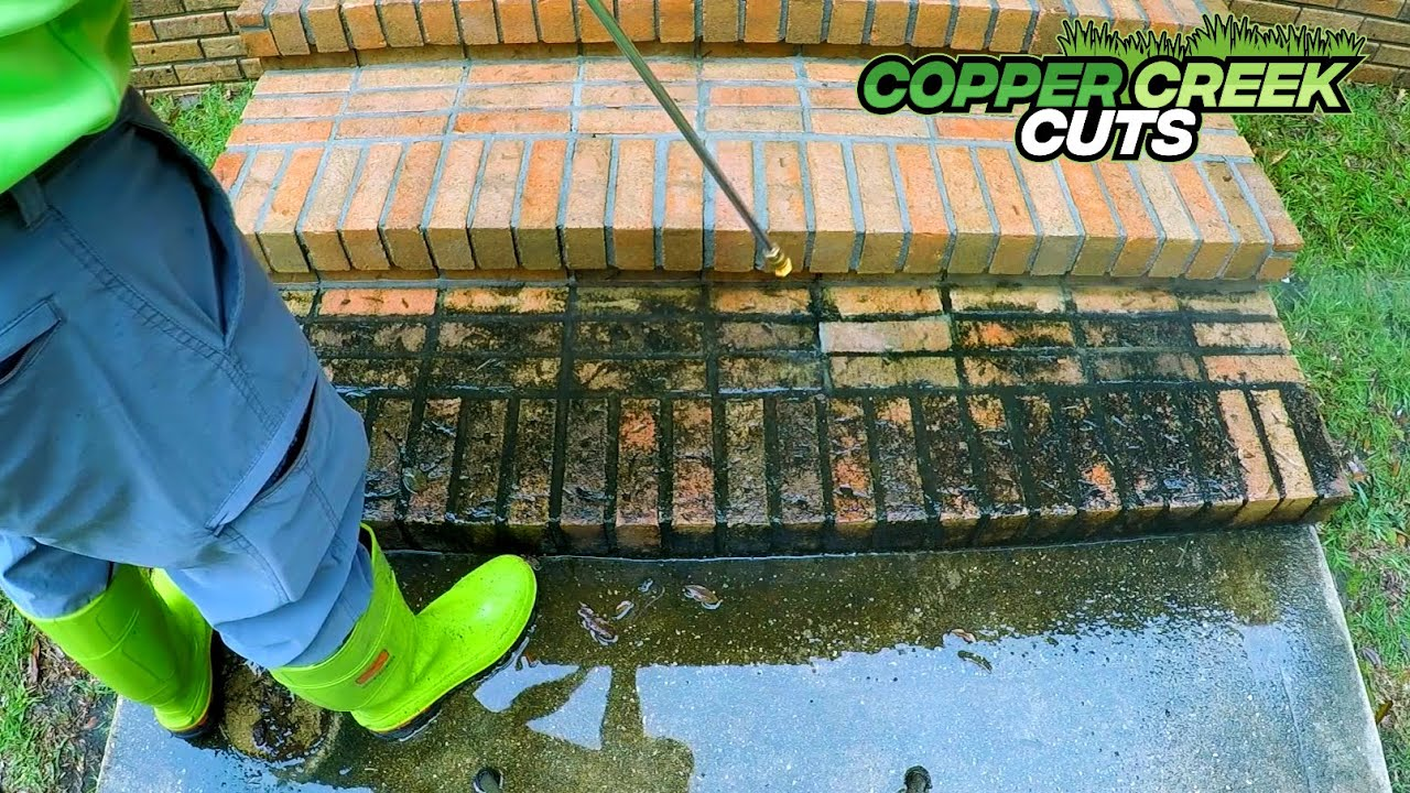 Download Pressure Washing Sweet Old Lady's Nasty Dirty Brick Steps For Free