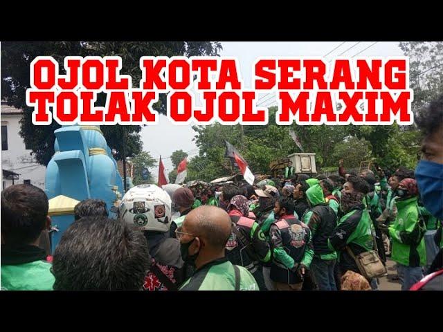 LIVE || Aksi Ojol Kota Serang Tolak Ojol MAXIM