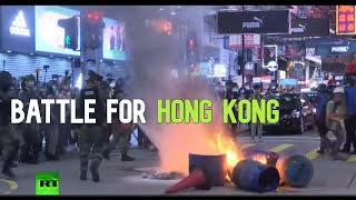 New wave of protests hits HONG KONG over China's security law