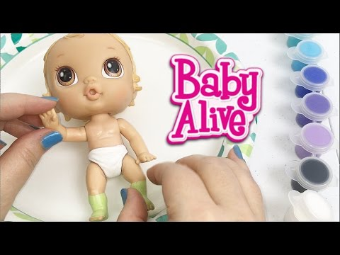 Baby Alive Crib Life Lily Sweet Doll Painting The Back Of Her Diaper