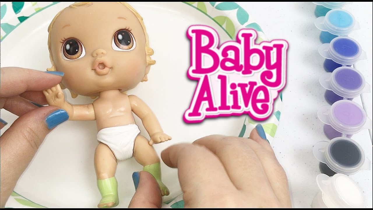 Uncategorized Criblife baby alive crib life lily sweet doll painting the back of her diaper