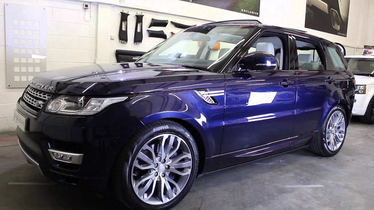 2014 14 Range Rover Sport Hse Finished In Loire Blue