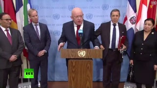 Пресс-подход постоянных представителей ООН в память о Виталии Чуркине