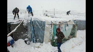 Сирийские беженцы умирают в Ливане от холода. Новости от 23.01.2018