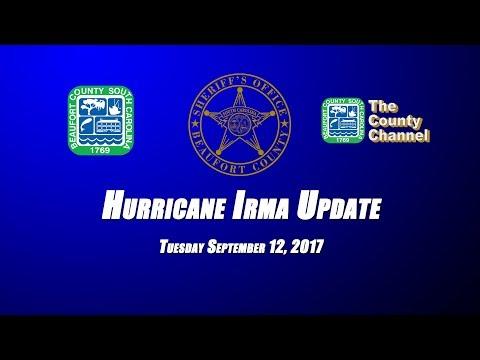 Beaufort County Sheriff Office Hurricane Irma Update Saturday
