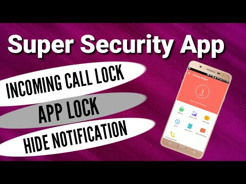 Best Security App 2018! Call Security AppLock Hide Notification ! Secret Locker App