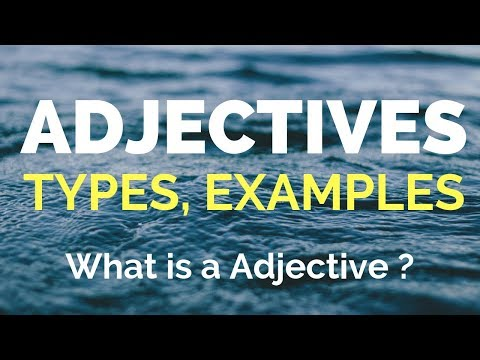 Adjectives (विशेषण)  - Learn English speaking in Hindi  -  Adjectives examples and Exercises