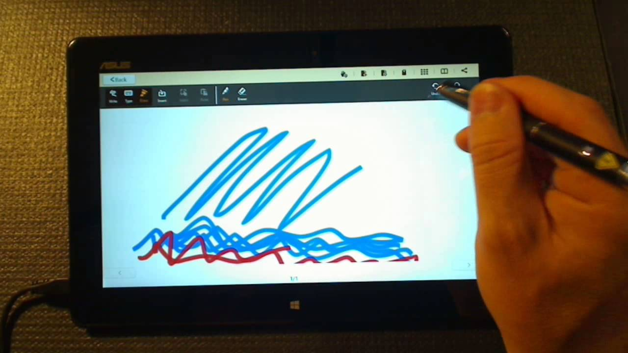 using a capacitive stylus on a windows 8 tablet youtube