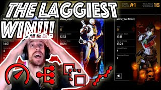 I was Lagging like Crazy and still WON!!!  Laggiest Knocks and Kills!!! - APEX LEGENDS PS4