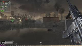Call of Duty 4 Modern Warfare - 4K Gameplay with Bots (Sabotage on Bog)