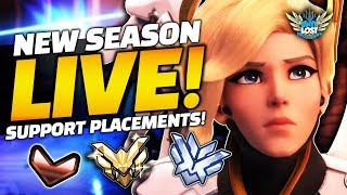 Overwatch - LIVE Support Placements! New Comp Season 19 - HUGE Changes!