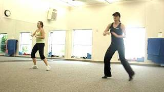"Zumba routine to "" Calle Ocho"" or  ""I know you want me"" by Pitbull"