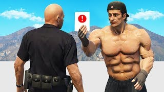 Angry Bodybuilder Gives Fine To Cop! (GTA RP)