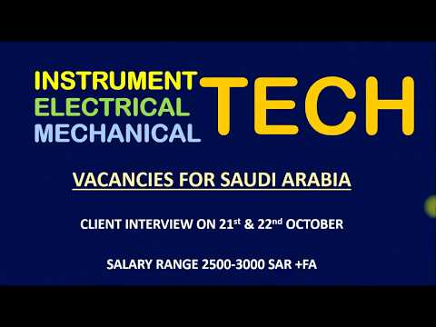 INSTRUMENT ELECTRICAL AND MECHANICAL TECHNICIAN VACANCIES