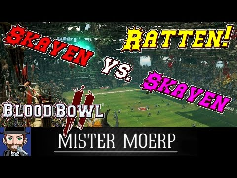 Blood Bowl 2 Stream - RATTEN  Skaven vs Skaven  Moerp vs Drace deutschgerman