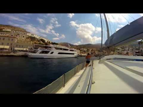 sailing  the Saronic islands in September 2014