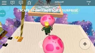 Roblox the escape spongebob