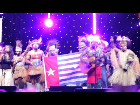 George Telek and the sound of West Papua freedom at Olympic Games music event, London 2012