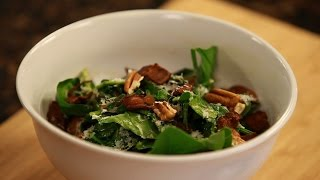 Breville Presents Warm Spinach Salad With Bacon, Pecorino, And Ale Vinaigrette | Matt Jennings