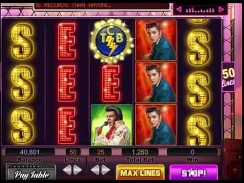 Caesars Casino Slot Machine Game ELVIS PRESLEY - YouTube