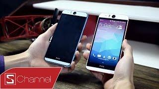 Schannel - Mở hộp HTC Desire Eye chính hãng : Màu xanh và đỏ