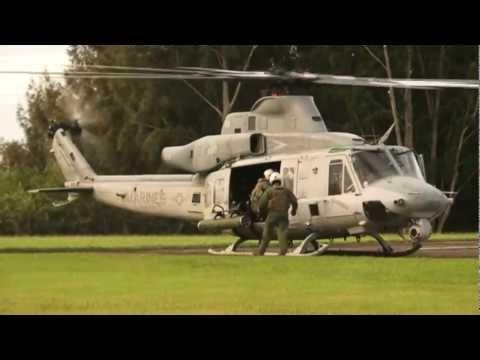 USMC AH-1Z Zulu Cobra And UH-1Y Huey Flight For Top Brass