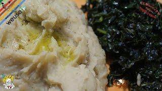 353 - Purea di fave e cavolo nero...oltretutto anche leggero! (piatto vegetariano facile e gustoso)