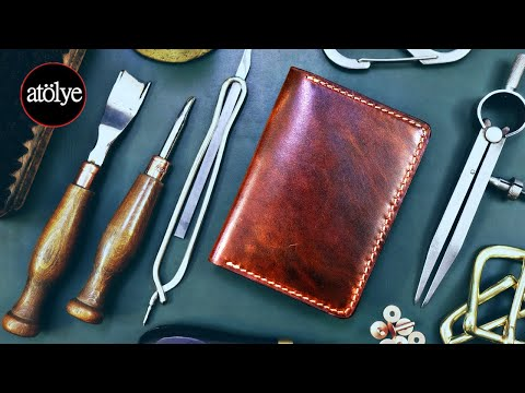 Slim Wallet Oiled Leather | Handmade Slim Leather Wallet | Credit Card Holder