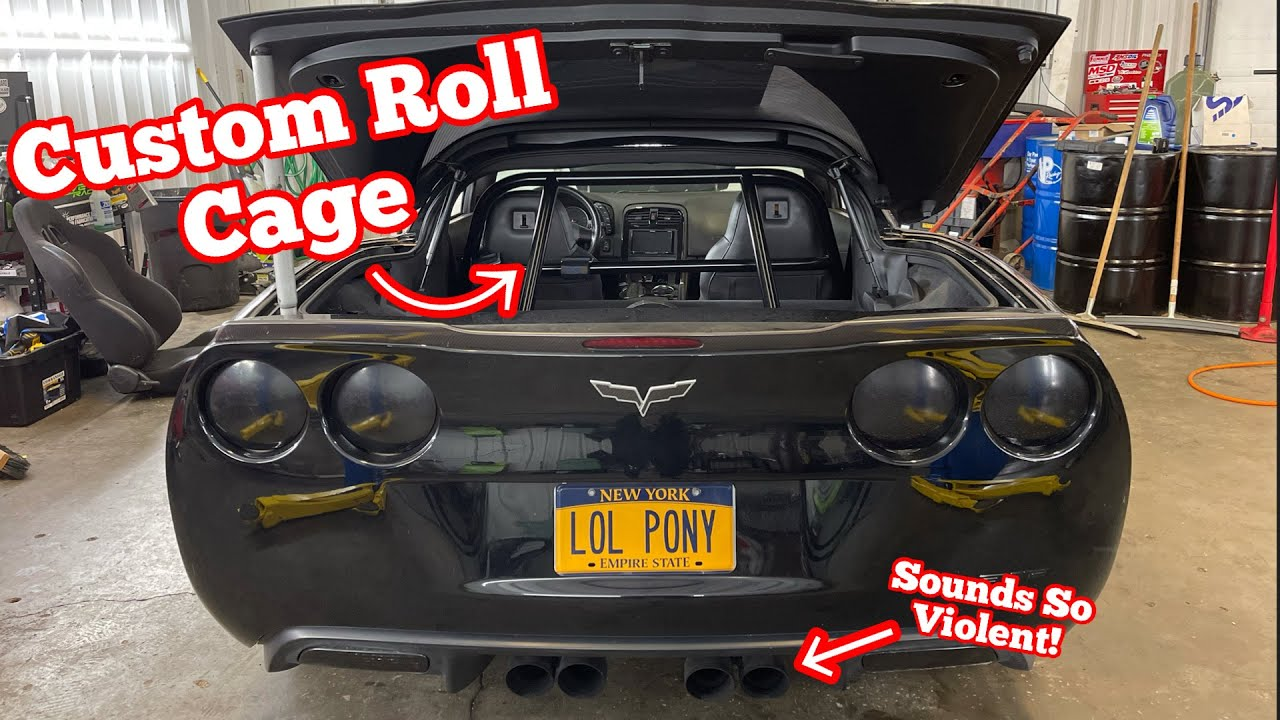 C6 Corvette With A NASTY CAM & NITROUS Setup Gets Custom Tig Welded ROLL CAGE!!