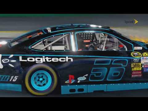 NASCAR 15 victory edition Logitech on fire LOL @ Kentucky |