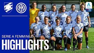 SAMPDORIA 3-0 INTER WOMEN | INTER WOMEN HIGHLIGHTS | 21/22 Serie A Femminile ⚫🔵
